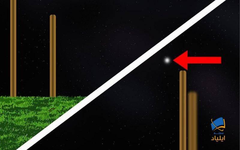 با استفاده از دو چوب، جهت را در شمال پیدا کنید