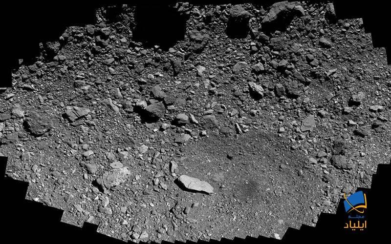 نمای نزدیک از سطح سیارکِ بنو