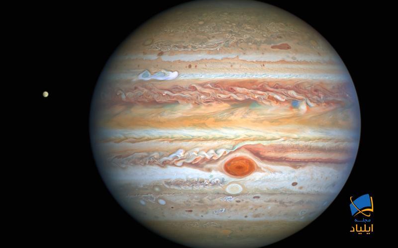 جدیدترین تصاویر از سیارهی مشتری و قمر آن