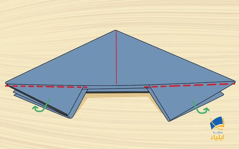 مثلثهای کوچک را به سمت داخل تا بزنید