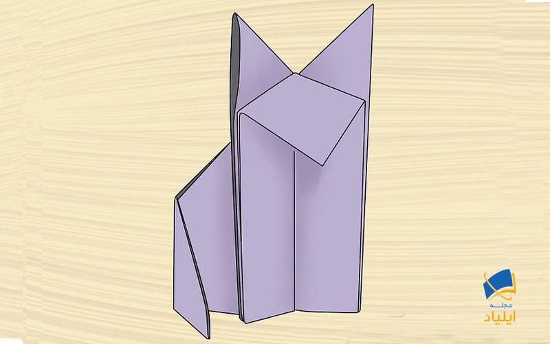 ساخت یک گرگ ساده اوریگامی
