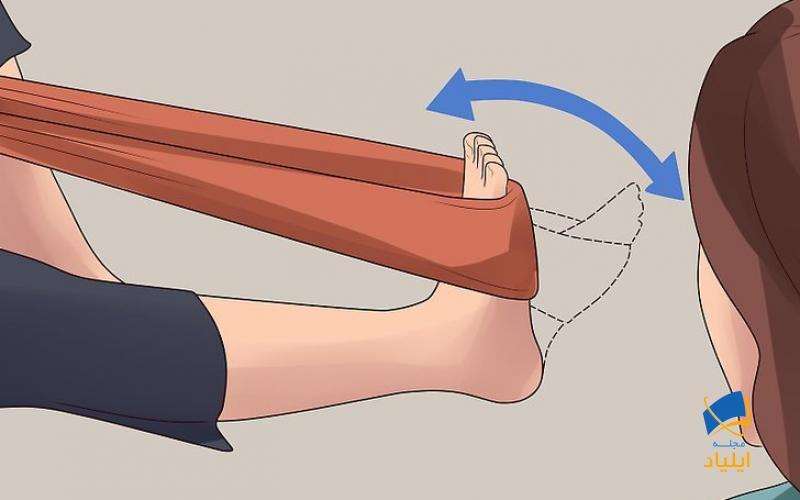 تمرین خم کف پا را انجام دهید