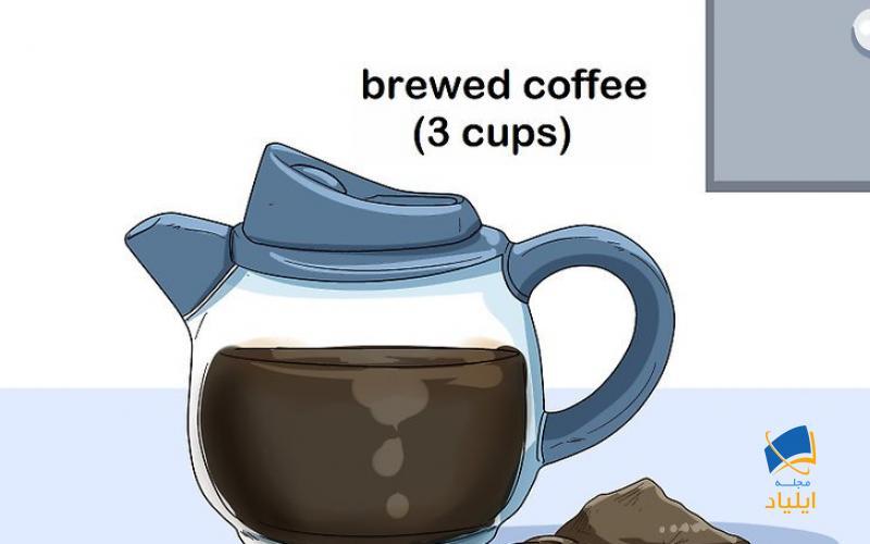 تیرهتر شدن مو با قهوه