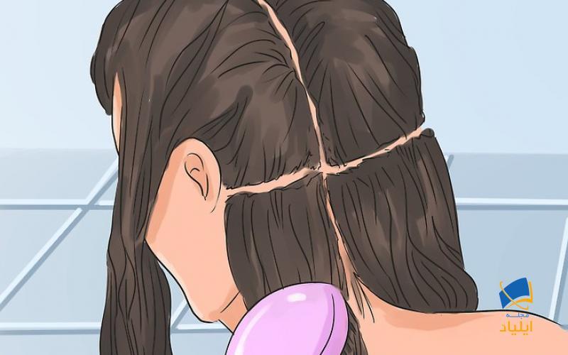 صاف کردن موها با بستن آنها در طول شب