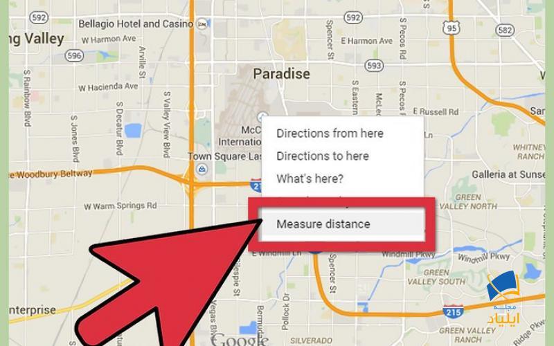 اندازه گیری فاصله با استفاده از ویژگی «Measure Distance»