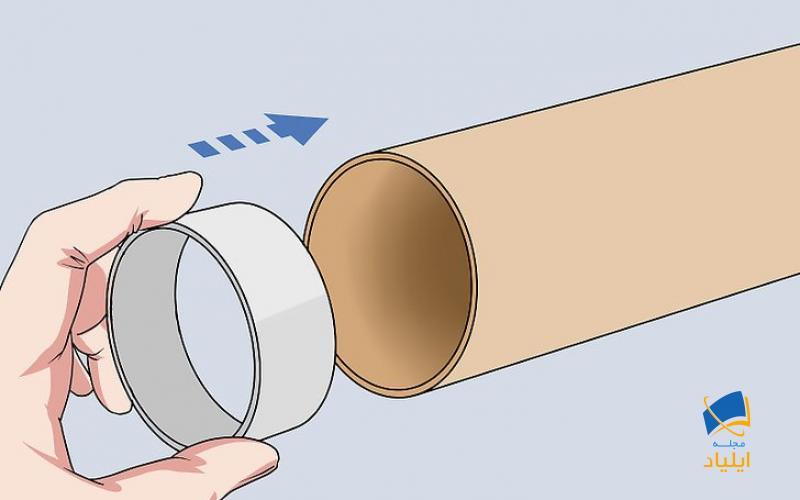 فاصله دهنده اول را در لوله خارجی قرار دهید