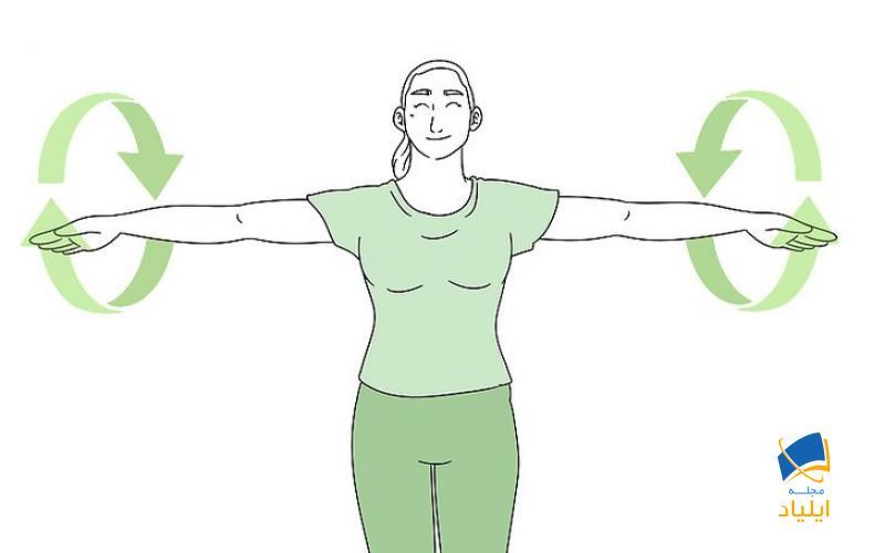 برای کشش بازوها، شانهها و بالاتنه از حلقههای بازو استفاده کنید