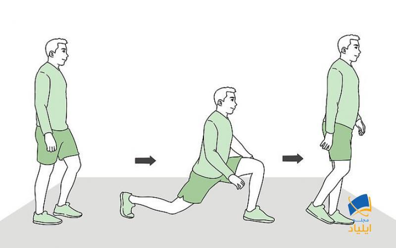 با حرکت لانگ راه بروید
