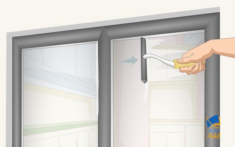 از حرکات افقی برای پاک کردن کل پنجره استفاده کنید