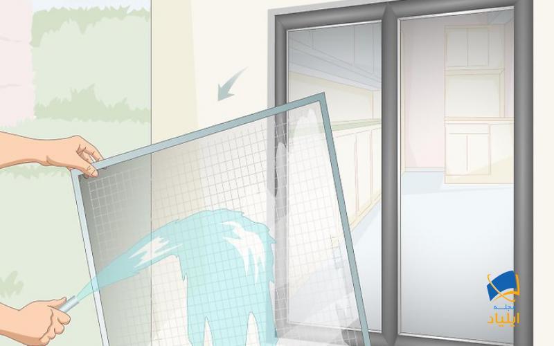 تمیز کردن پنجرههای بیرونی