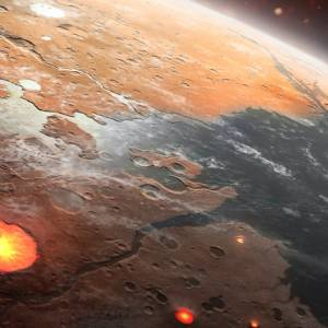 چه زمانی پوستهی زمین از زیر اقیانوسها بیرون آمد؟